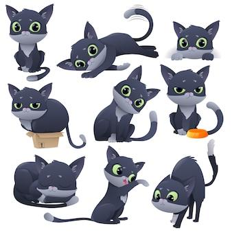 漫画面白い小さなかわいい子猫セット