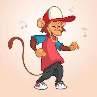 Cartoon funny monkey illustration