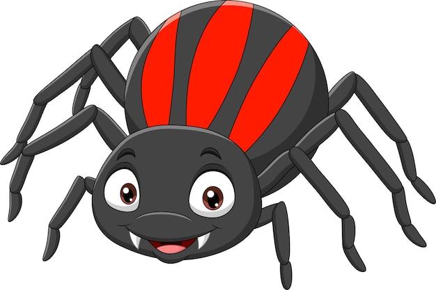 화이트에 만화 재미있는 거미