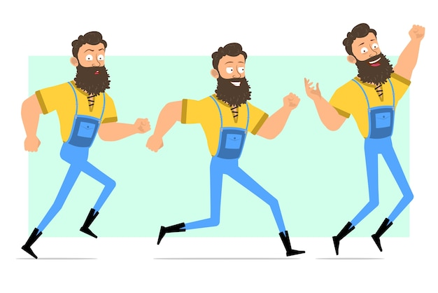 Мультфильм смешные сильные бородатые позы дровосека