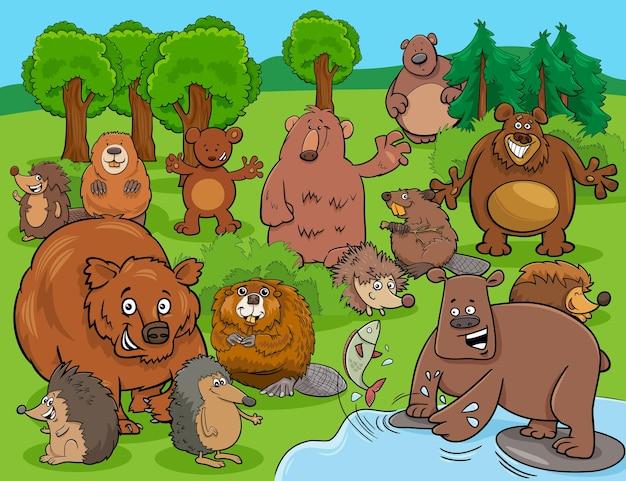 漫画面白い野生動物漫画のキャラクターグループ