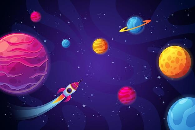 Cartoon galaxy background