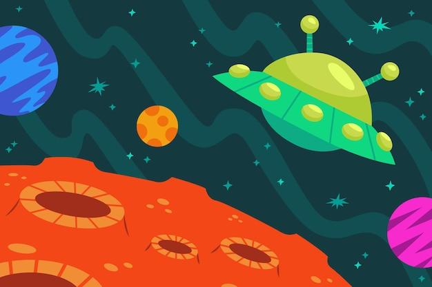 만화 은하 배경
