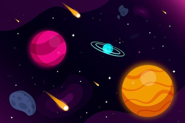 漫画の銀河の背景