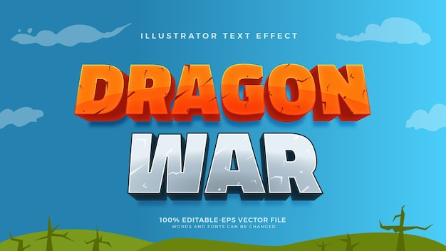 Cartoon game style text effect