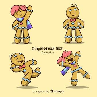 Cartoon gingerbread cookies collection