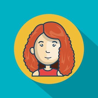 Cartoon girl character web