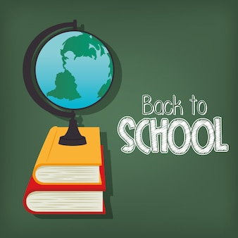 Cartoon globe back to school design
