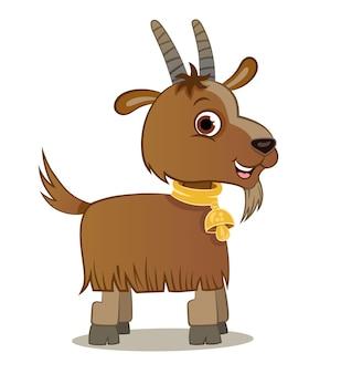 Мультяшный козел характер векторные иллюстрации