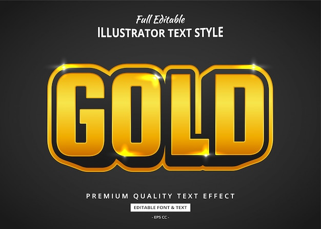 Cartoon gold text  effect