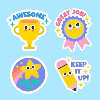 Cartoon good job stickers