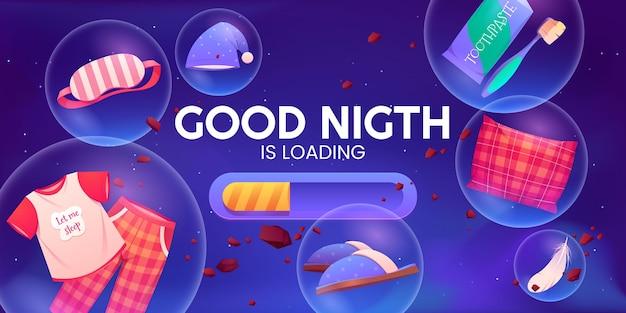 漫画おやすみの背景