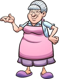 Cartoon grandmother illustration