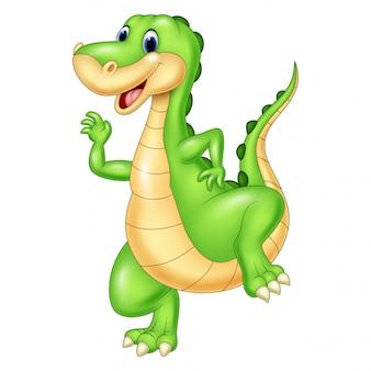 만화 녹색 공룡