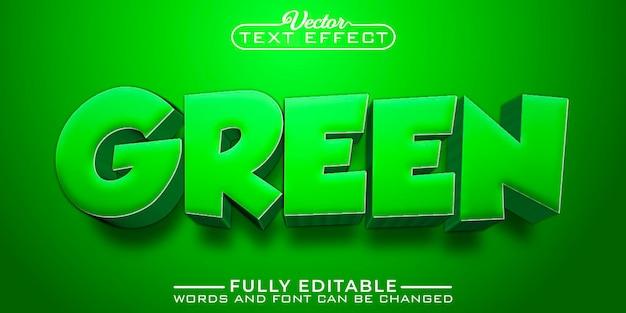 Cartoon green editable text effect template