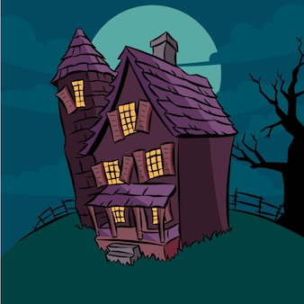 Cartoon halloween house