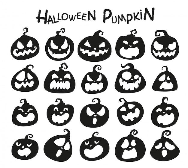Cartoon halloween pumpkin. the shadow of the pumpkin carved a ghost face on halloween.