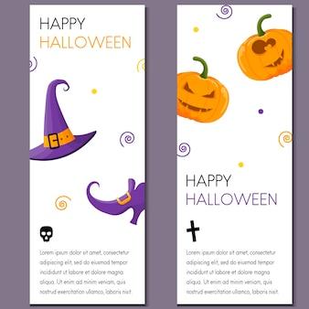 Cartoon halloween vertical banner