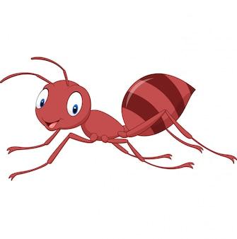 Cartoon happy ant