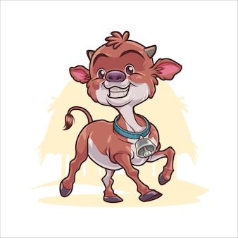 漫画幸せな子牛