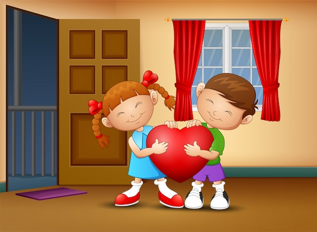 心を持って漫画幸せなカップルの子供