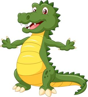 Cartoon happy crocodile