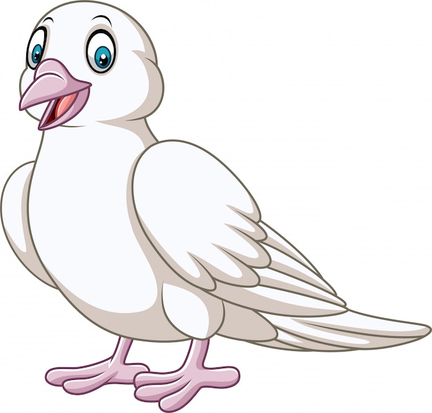 Cartoon happy dove