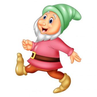 Dwarf happily walking