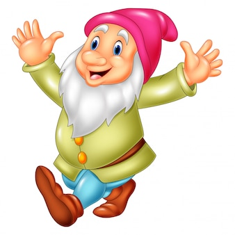 Cartoon happy dwarf
