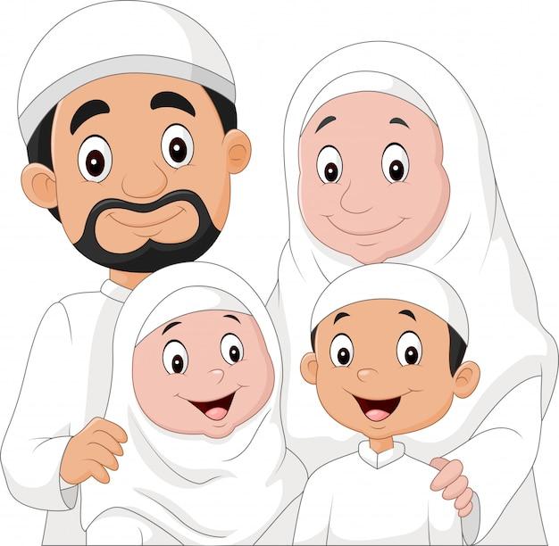 Мультфильм счастливая семья мусульманин