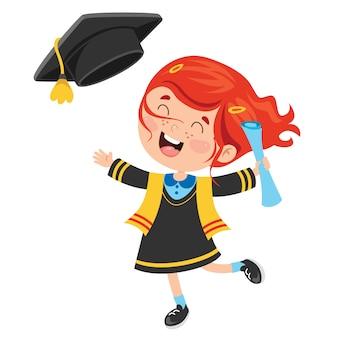 Мультфильм счастливый малыш в выпускной костюм