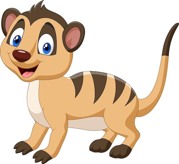 만화 행복 한 미어캣