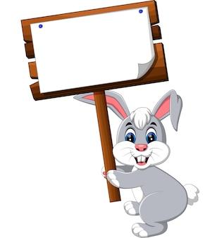 漫画のハッピーウサギ