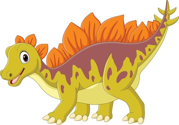Cartoon happy stegosaurus