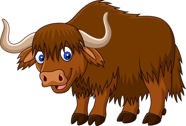 Cartoon happy yak
