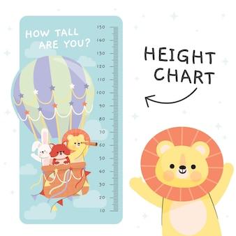Misuratore di altezza del fumetto per bambini