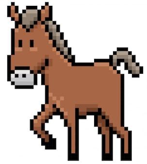 Cartoon horse pixel design