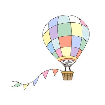 Cartoon of hot air balloon