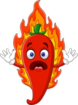 Cartoon hot chili pepper