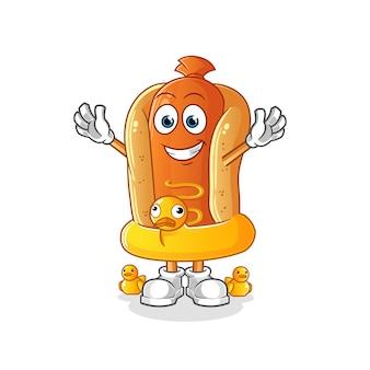 Cartoon hot dog illustration