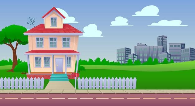 Иллюстрации шаржа дом