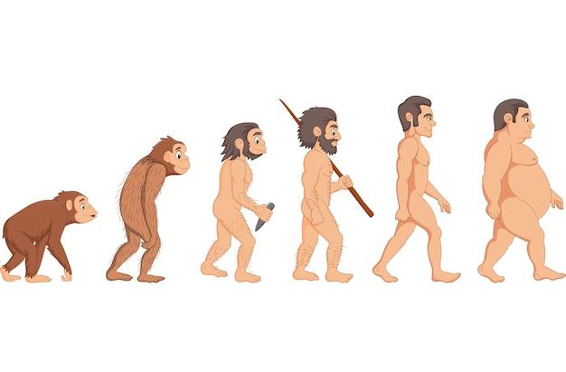 Cartoon human evolution