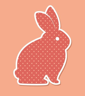 Cartoon icon rabbit design isolated