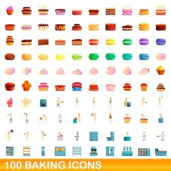 Cartoon illustration of  baking icons  set isolated on white background
