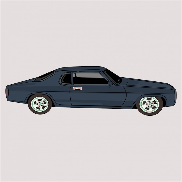 Cartoon  illustration car classic retro vintage car