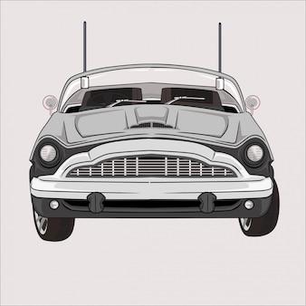 Cartoon  illustration car mini moris