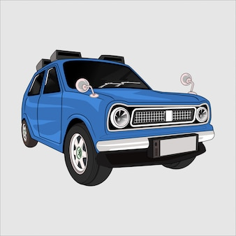 Cartoon  illustration car saloon corolla