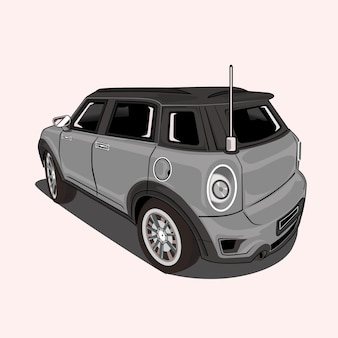 Cartoon  illustration city car