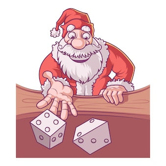 Cartoon illustration of cute santa.