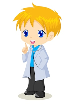 Cartoon illustration of a doctor